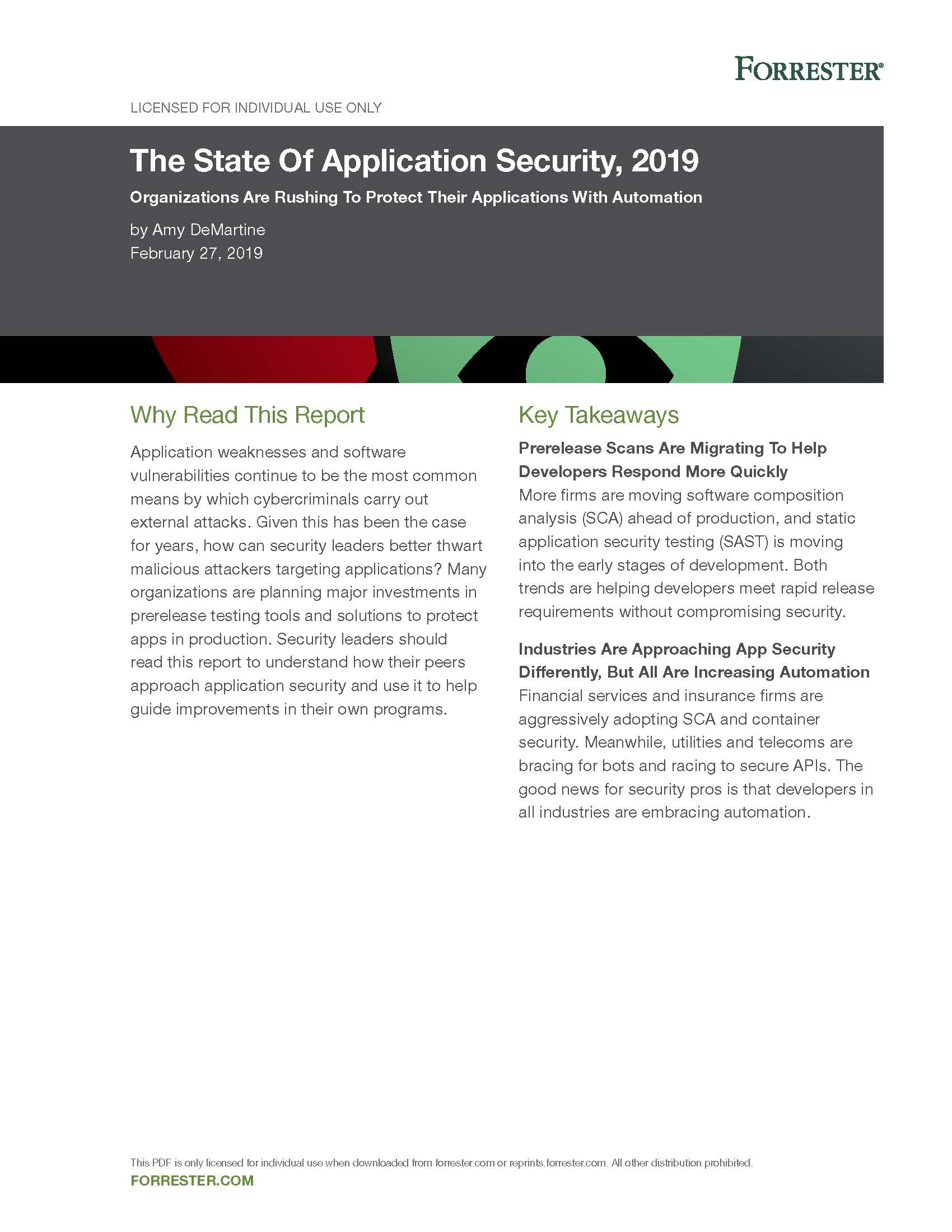 The State Of Application Security, 2019 Forrester_Page_01